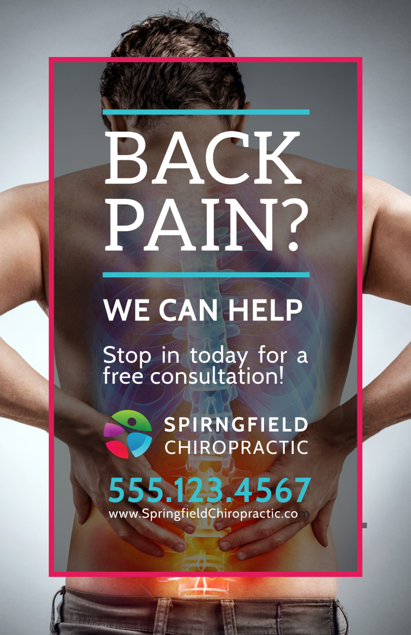 Chiropractic Back Pain Poster Template Preview 2