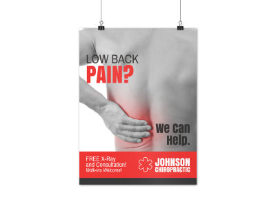 Chiropractic Outreach Poster Template  preview