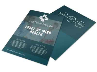 Pharmacy Peace Of Mind Flyer Template preview