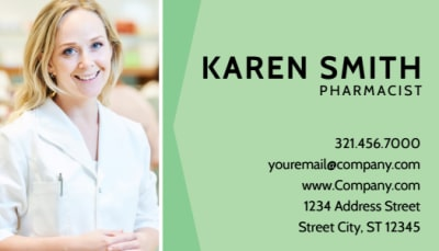 Pharmacist Business Card Template Preview 1