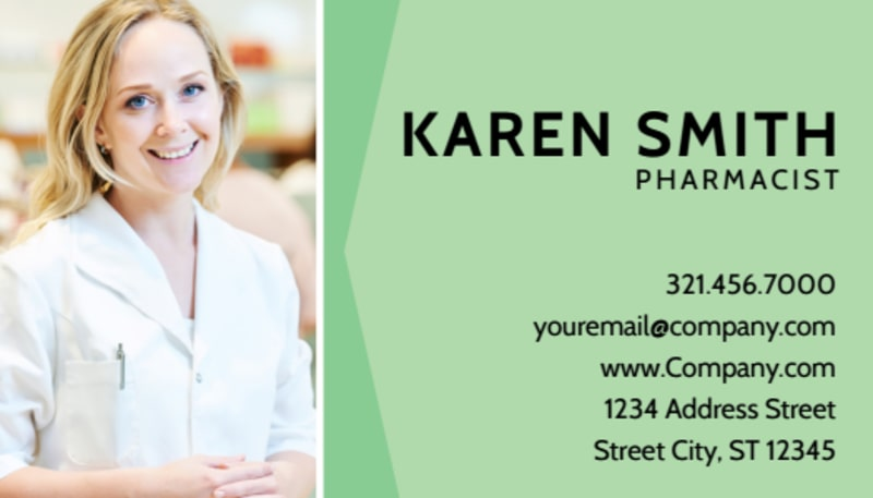 Pharmacist Business Card Template Preview 2