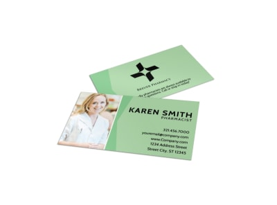 Pharmacist Business Card Template preview