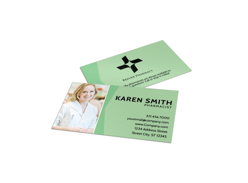 Pharmacist Business Card Template Preview 4