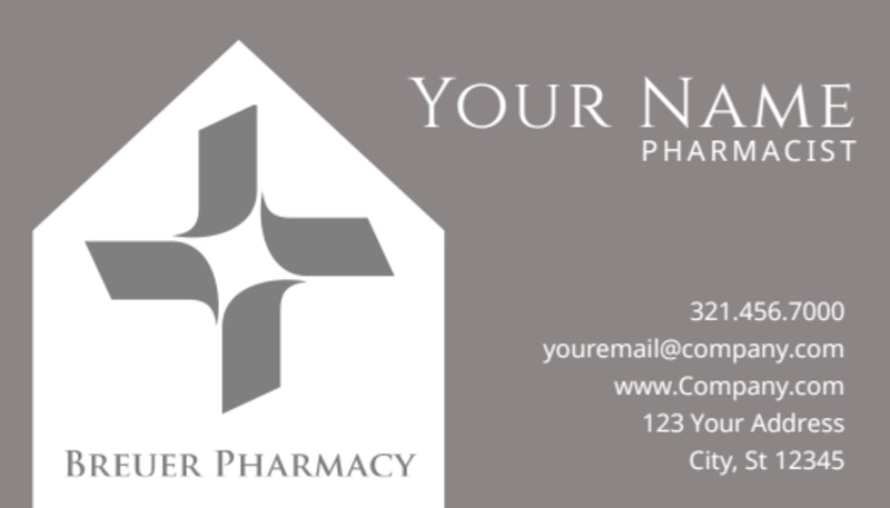 Pharmacy Business Card Template Preview 2