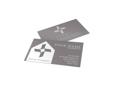 Pharmacy Business Card Template preview