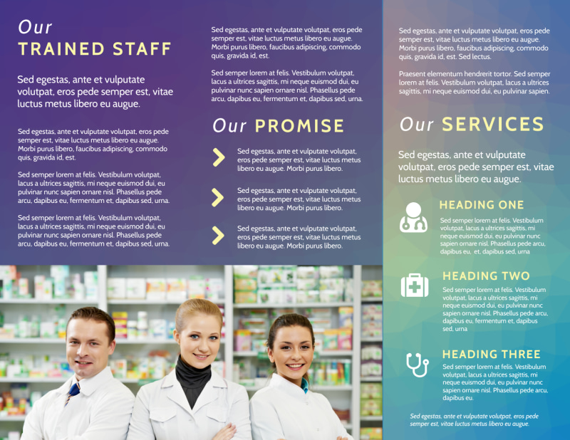 Pharmacy Intro Tri-Fold Brochure Template Preview 3
