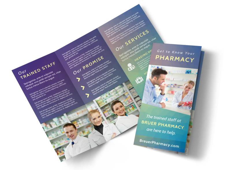 Pharmacy Intro Tri-Fold Brochure Template Preview 1