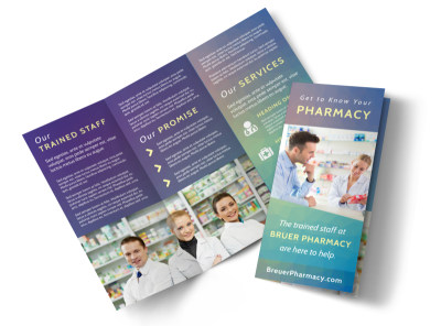 Pharmacy Intro Tri-Fold Brochure Template preview