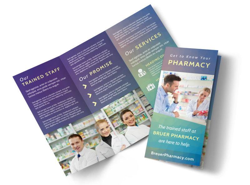 Pharmacy Intro Tri-Fold Brochure Template