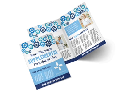 Pharmacy Plan Bi-Fold Brochure Template preview