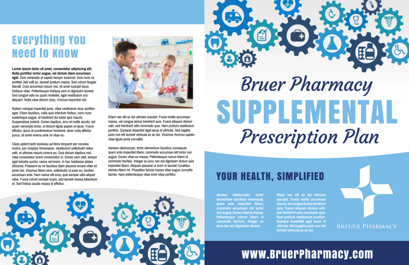 Pharmacy Plan Bi-Fold Brochure Template Preview 2