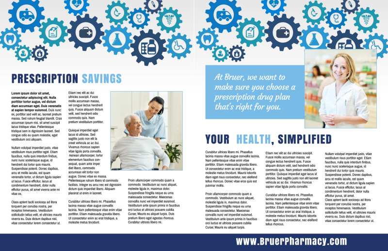 Pharmacy Plan Bi-Fold Brochure Template Preview 3