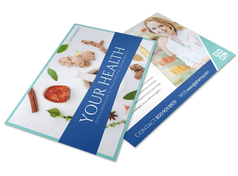 Your Health Pharmacy Postcard Template Preview 4