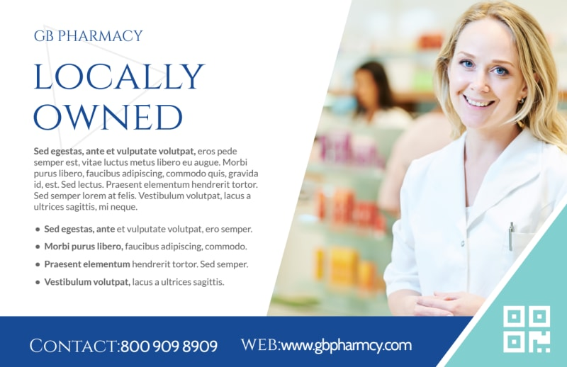 Your Health Pharmacy Postcard Template Preview 3