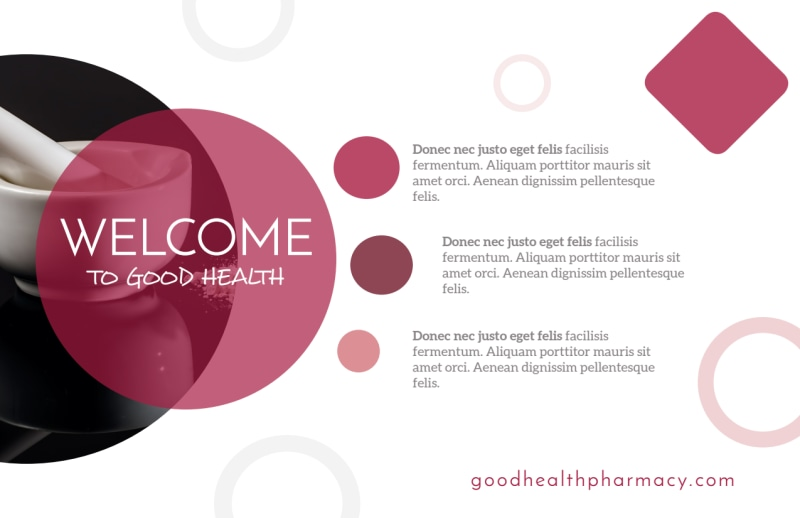 Good Health Pharmacy Postcard Template Preview 3