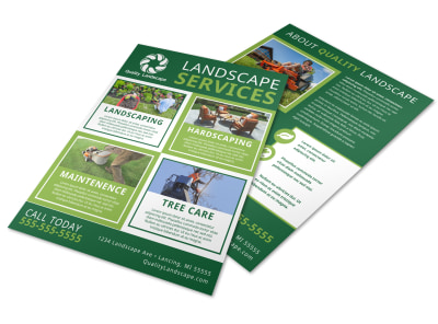 Landscape Services Flyer Template preview