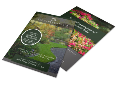 Landscaping Garden Flyer Template preview