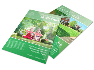 Landscaping Residential Flyer Template preview