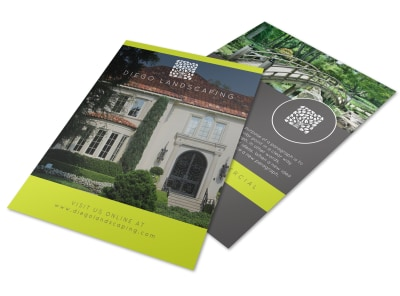 Landscaping Architect Flyer Template preview