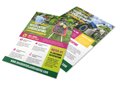 Residential Landscape Flyer Template preview