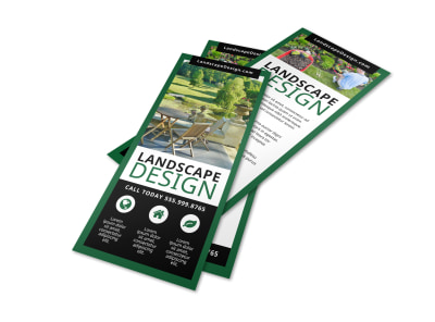 Residential Landscape Design Flyer Template preview