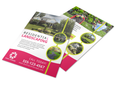 About Residential Landscaping Flyer Template preview
