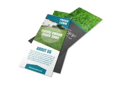 Family Owned Lawn Care Flyer Template preview