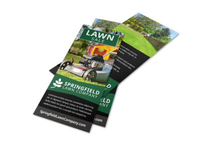 Lawn Company Flyer Template preview
