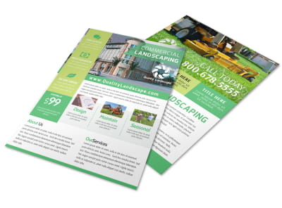 Commercial Landscaping Flyer Template preview