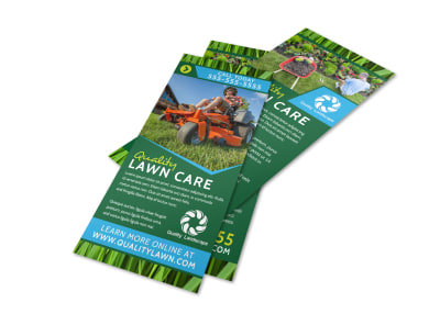 Quality Green Lawn Care Flyer Template preview