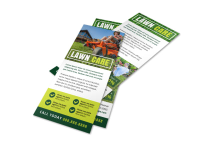 Lawn Care Simple Flyer Template preview