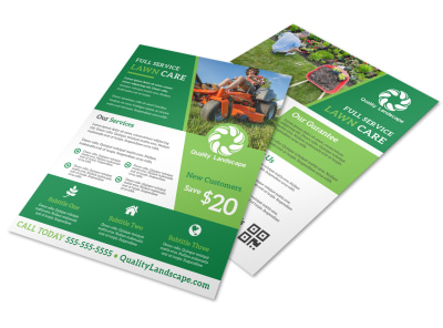 Full Service Lawn Care Flyer Template preview