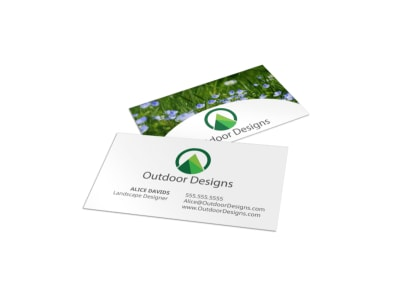 Outdoor Landscaping Business Card Template preview
