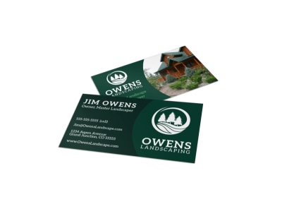 Quality Landscaping Business Card Template preview