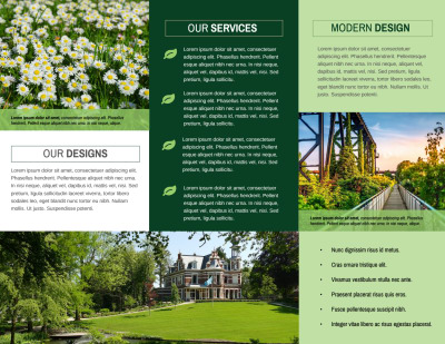 Awesome Outdoor Landscaping Tri-Fold Brochure Template Preview 2