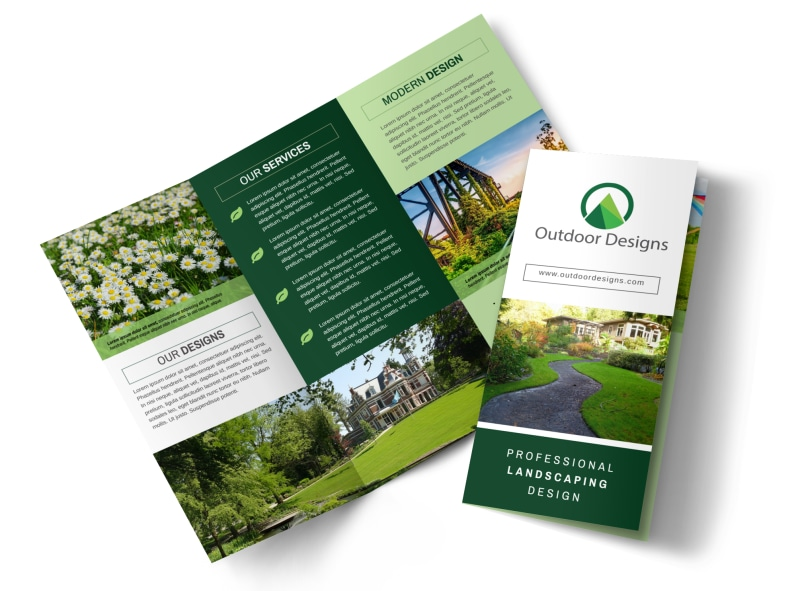 Awesome Outdoor Landscaping Tri-Fold Brochure Template Preview 4