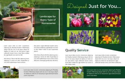 Residential Landscape Design Bi-Fold Brochure Template Preview 2