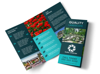 Quality Landscape Tri-Fold Brochure Template preview