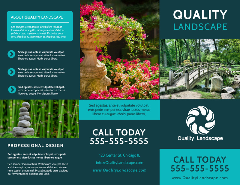 Quality Landscape Tri-Fold Brochure Template Preview 2