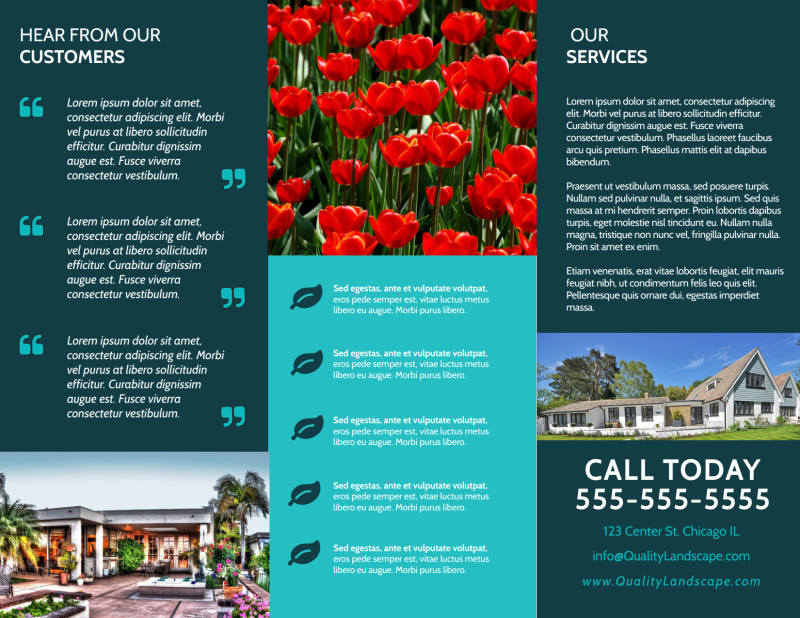 Quality Landscape Tri-Fold Brochure Template Preview 3