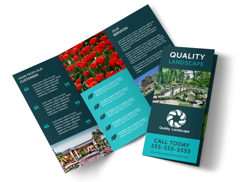 Quality Landscape Tri-Fold Brochure Template Preview 1