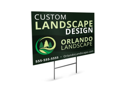Custom Landscape Design Yard Sign Template