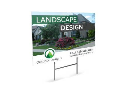 Landscaping Yard Signs Template Preview