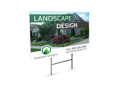 Landscape Design Yard Sign Template