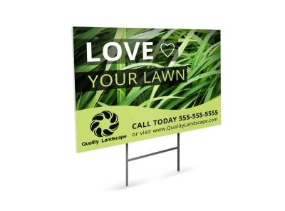 Love Your Lawn Yard Sign Template preview