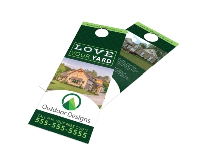 Love Your Yard Door Hanger Template preview