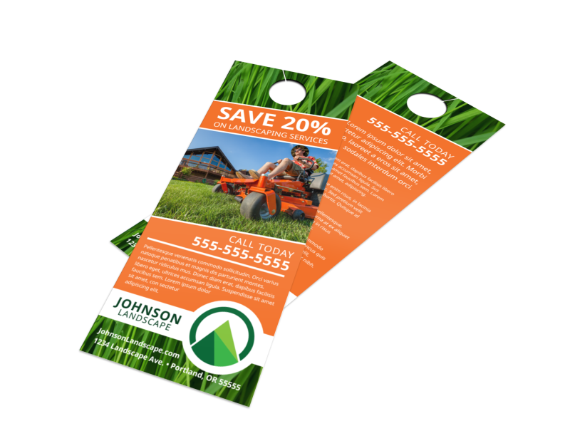 Promo Landscaping Service Door Hanger Template Preview 1