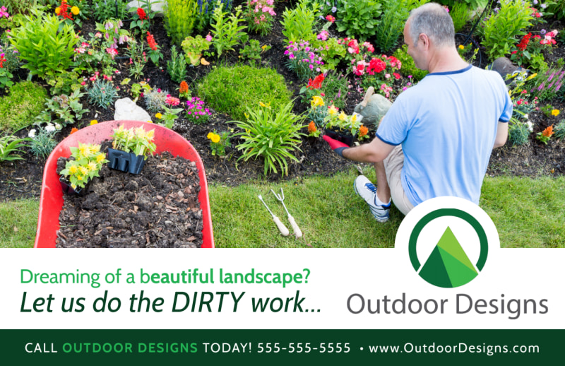 Dream Landscaping Postcard Template Preview 2