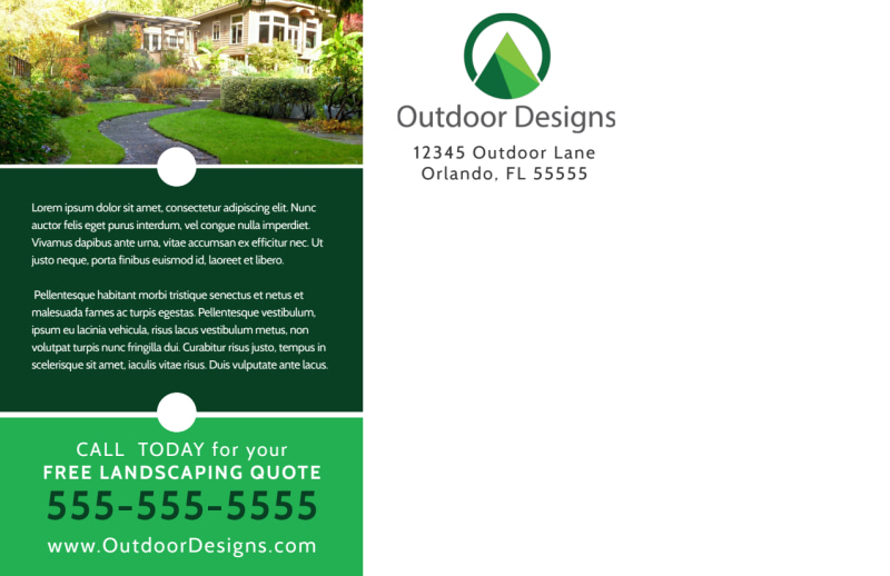 Dream Landscaping Postcard Template Preview 3