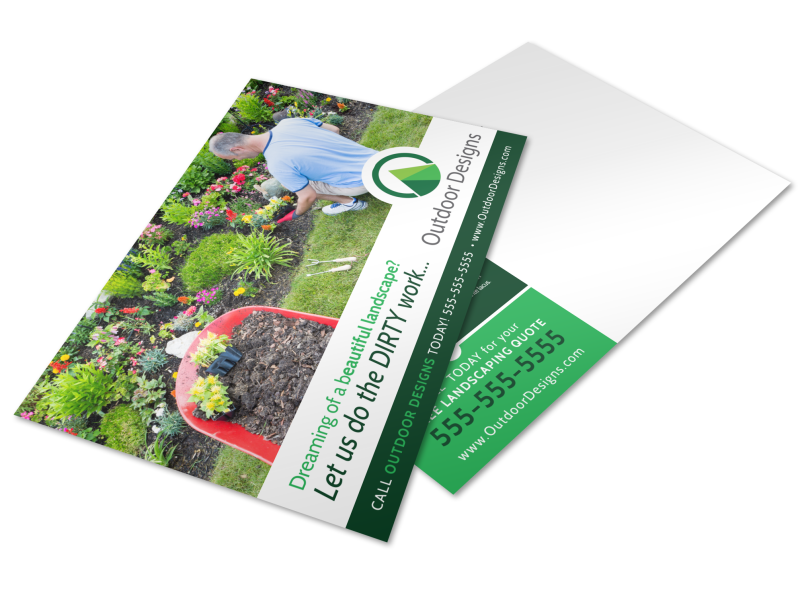 Dream Landscaping Postcard Template Preview 1